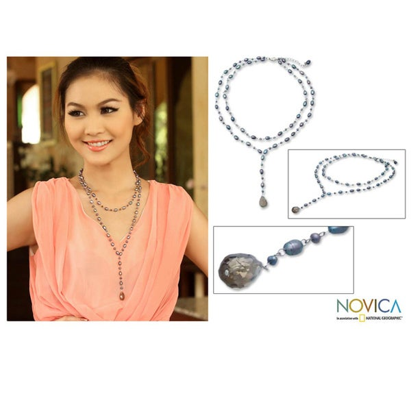 Pearl 'Love Blues' Necklace (3-5 mm) (Thailand)