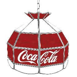 Coca Cola Vintage 16-inch Stained Glass Tiffany Lamp - Thumbnail 2