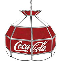 Coca Cola Vintage 16-inch Stained Glass Tiffany Lamp