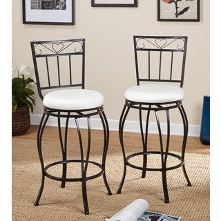 Simple Living Gabriella 30-inch Pub Bar Stools (Set of 2) - N/A