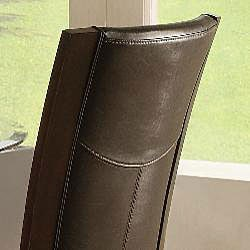 Portman Black Bi-cast Leather Chairs (Set of 2) - Thumbnail 1