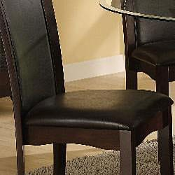 Portman Black Bi-cast Leather Chairs (Set of 2) - Thumbnail 2