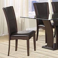 Portman Black Bi-cast Leather Chairs (Set of 2)