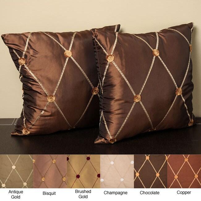 Groovy Helena 18 Inch Knife Edge Pillow Set Of 2 Cjindustries Chair Design For Home Cjindustriesco