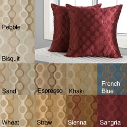 Duchess Circles 18-inch Knife Edge Pillows (Set of 2)