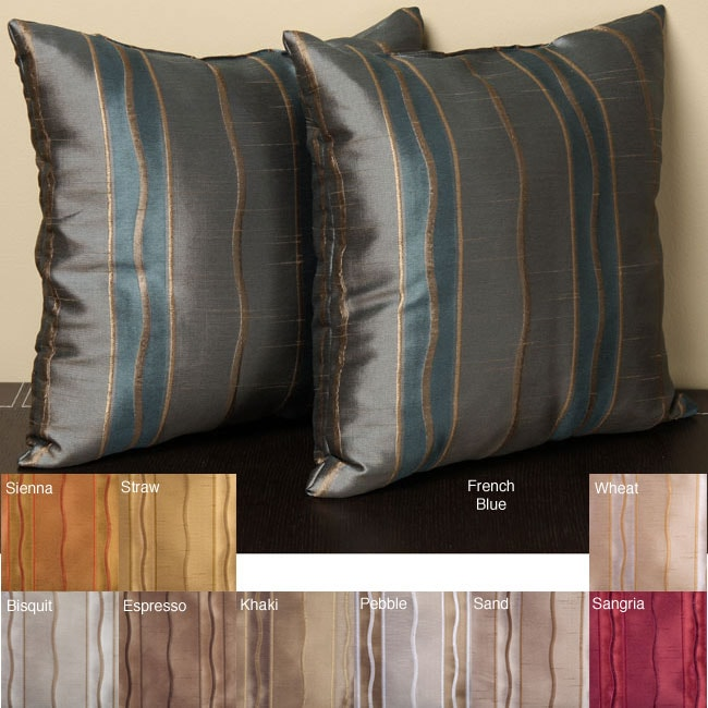 Duchess Stripe 18-inch Knife Edge Pillows (Set of 2)