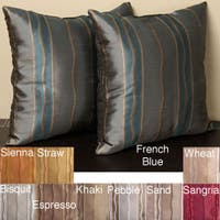 Duchess Stripe 18-inch Knife Edge Pillows (Set of 2)