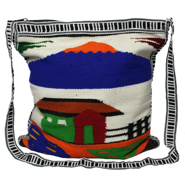 Handmade Wool Messenger Bag (Ecuador)