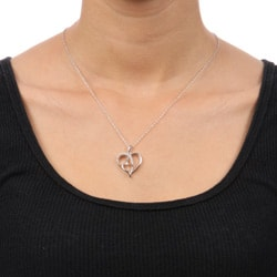 Unending Love Sterling Silver Diamond Accent Heart Necklace