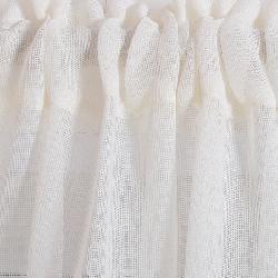 Sheer Linen Mesh 84-inch Window Curtain Pair