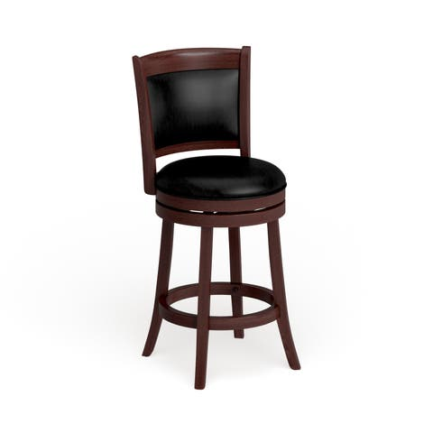 Verona Cherry Swivel 24 Inch High Back Counter Height Stool By INSPIRE Q Classic