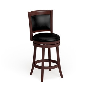 TRIBECCA HOME Verona Cherry Swivel 24-inch Counter Height Stool