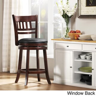Verona Cherry Swivel 24-inch High Back Counter Height Stool by iNSPIRE Q Classic (4 options available)