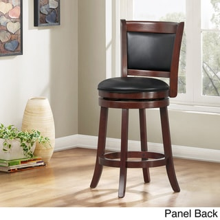 iNSPIRE Q Verona Cherry Swivel 24-inch High Back Counter Height Stool by  Classic (Solid Panel Back)