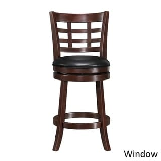 iNSPIRE Q Verona Cherry Swivel 24-inch High Back Counter Height Stool by  Classic (Window Back)