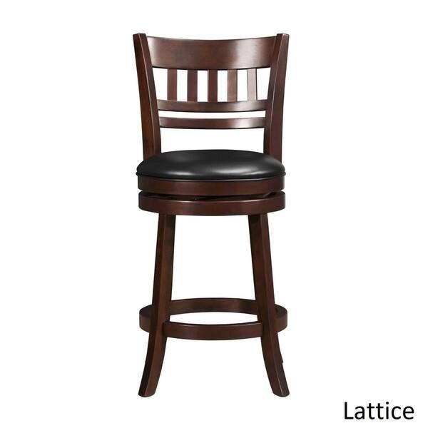 Marvelous Shop Verona Cherry Swivel 24 Inch High Back Counter Height Dailytribune Chair Design For Home Dailytribuneorg