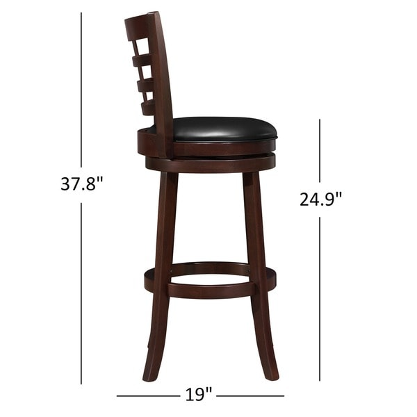 verona cherry swivel 24inch high back counter height stool by inspire q classic free shipping today