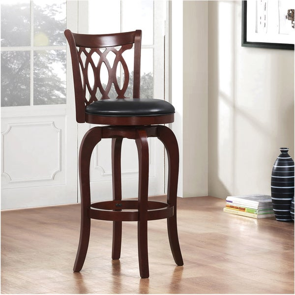 Verona Cherry Swivel 29-inch High Back Barstool by iNSPIRE Q Classic - Free Shipping Today - Overstock.com - 12112312 & Verona Cherry Swivel 29-inch High Back Barstool by iNSPIRE Q ... islam-shia.org