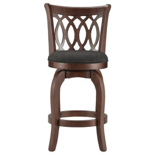 Verona Linen Scroll-back Swivel 24-inch High Back Counter Height Stool by iNSPIRE Q Classic