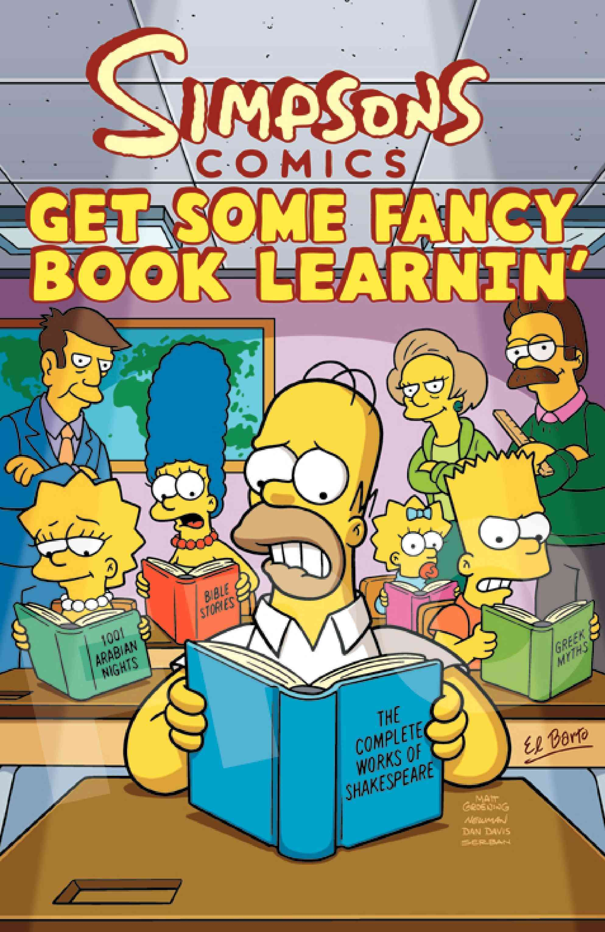 Simpsons Comics Get Some Fancy Book Learnin' (Paperback)