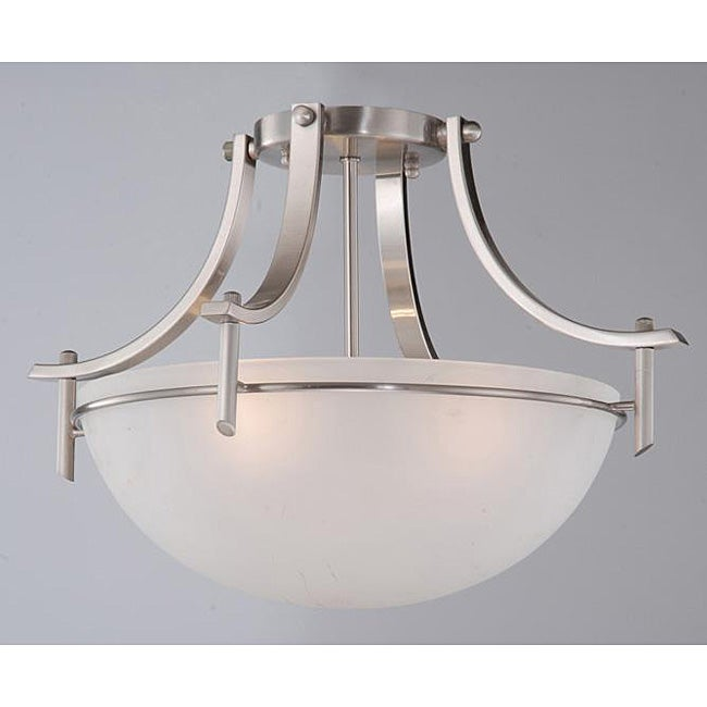 Satin Nickel 3 Light Ceiling Fixture Free Shipping Today