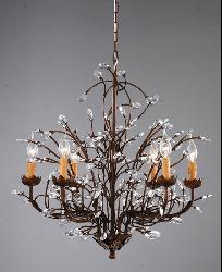 Thumbnail 2, Copper Grove Rockwood Antique Bronze 6-light Crystal and Iron Chandelier. Changes active main hero.