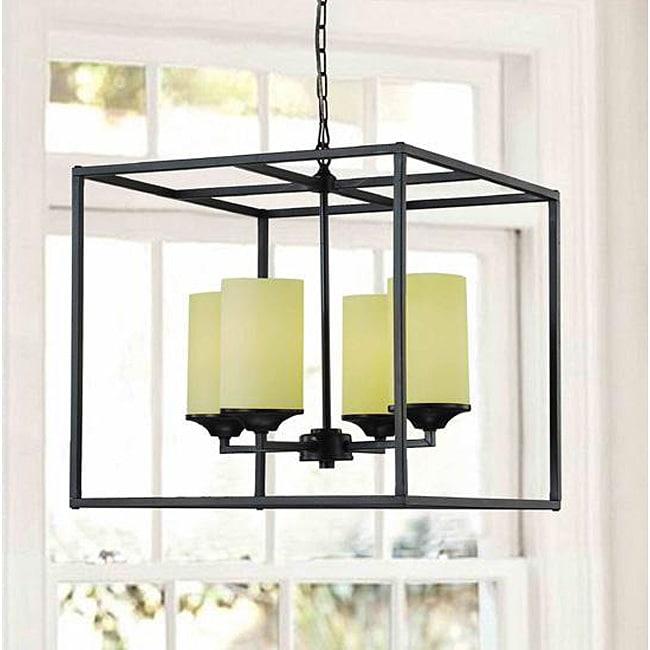 Foyer Lighting Overstock : Large black light pillar chandelier free shipping