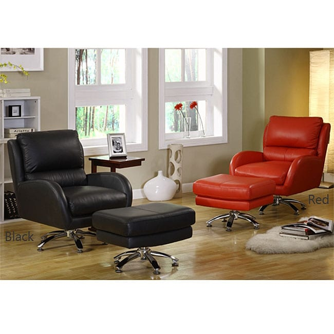 Milan Leather Club Chair with Ottoman
