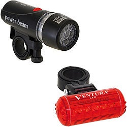 Ventura Bicycle Flashlight Headlight and Taillight Combo