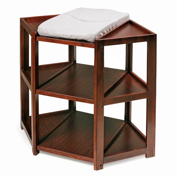 Marvelous Badger Basket Cherry Diaper Corner Changing Table   Free Shipping Today    Overstock.com   12114167