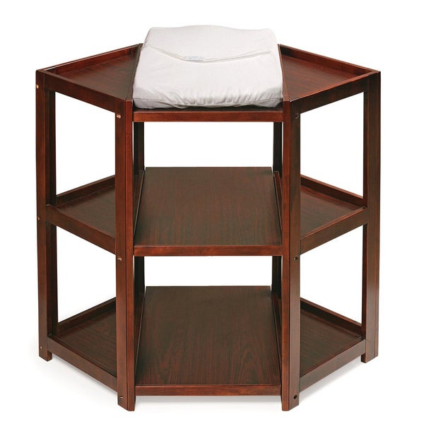 Badger Basket Cherry Diaper Corner Changing Table   Free Shipping Today    Overstock.com   12114167