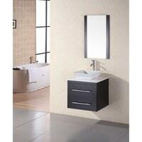 Design Element Simplicity Wall Mount Modern Bathroom Vanity Chrome
