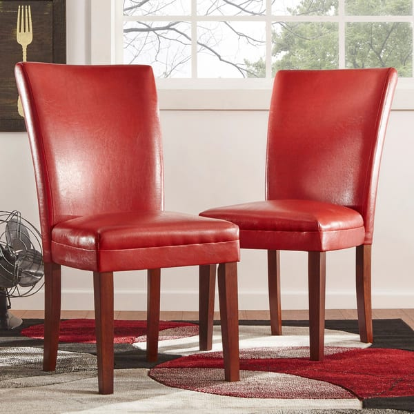 Parson Faux Leather Dining Chairs