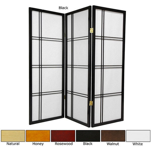 Spruce Wood 48-inch Double Cross 3-panel Room Divider (China)
