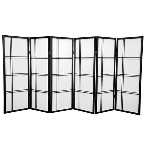 Handmade Spruce Wood 48-inch Double Cross Room Divider (China)