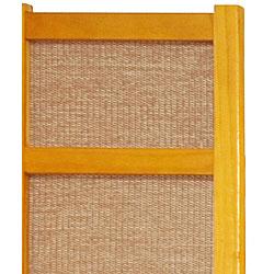 Handmade Wood and Jute 6-foot 4-panel Room Divider (China) - Thumbnail 2