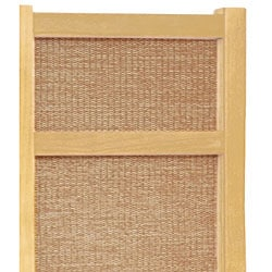 Room Divider Wood handmade wood and jute 6-foot 5-panel room divider (china) - free