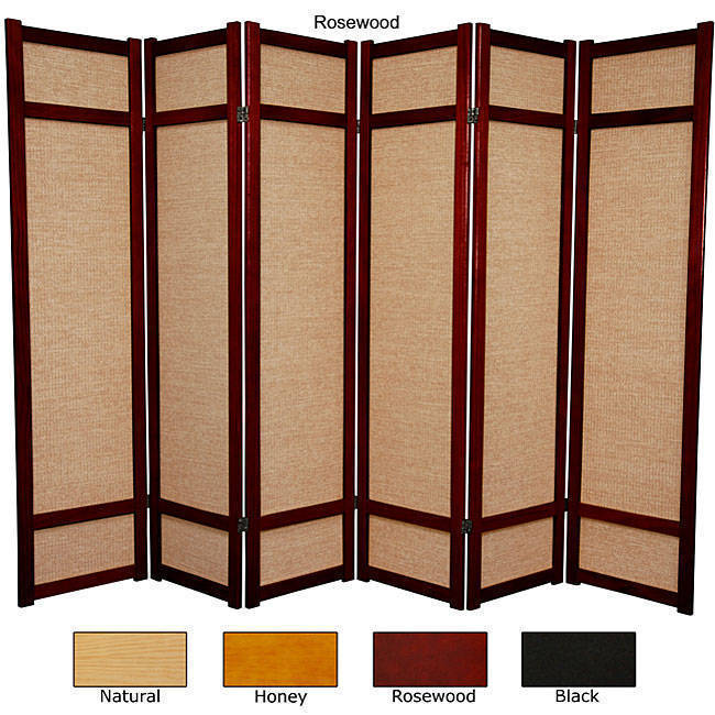 Handmade 6 Woven Jute Decorative Room Divider