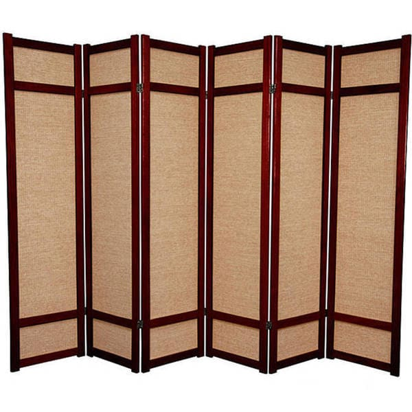 Handmade Six-foot Woven Jute Six-panel Decorative Room Divider (China)