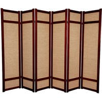 Handmade Six-foot Woven Jute Six-panel Decorative Room Divider (China) - 71 x 102