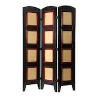 Handmade Wood and Plexiglas Photo 4-panel Room Divider (China)