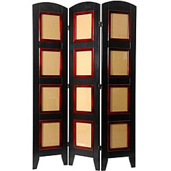 Handmade Wood and Plexiglas Photo 4-panel Room Divider (China)