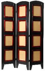 Wood and Plexi-glass Photo 6-panel Room Divider (China) - Thumbnail 1