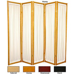 Handmade Wood and Cotton Helsinki 5-panel Room Divider (China) (4 options available)