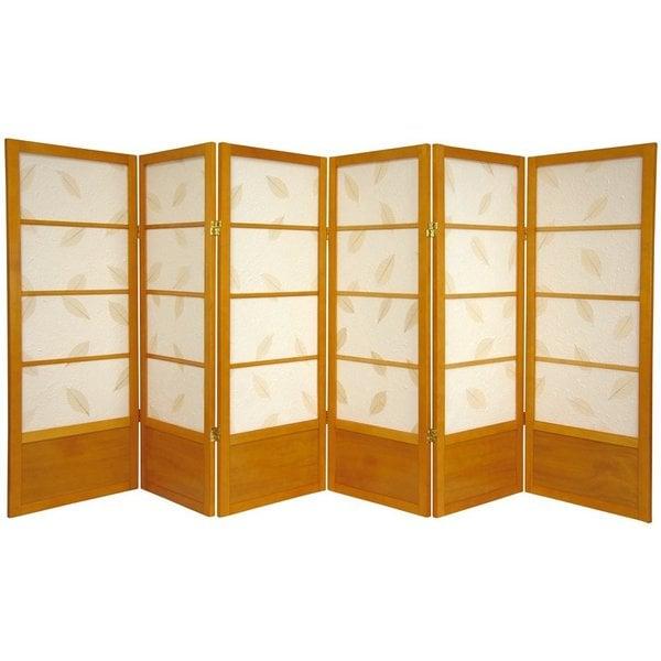 Wood 4-foot 6-panel Botanic Room Divider (China)