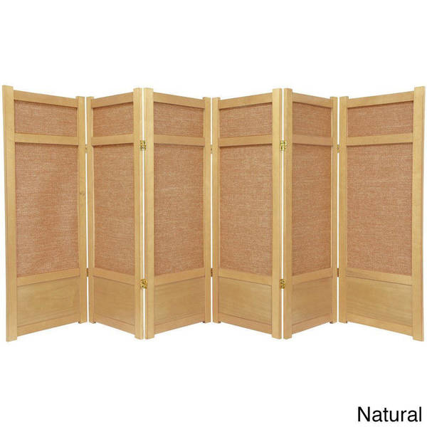 Handmade Spruce Wood And Jute 6 Panel Room Divider China Free Shipping Today Overstock Com 12114899