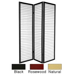 Handmade Wood 6-foot 3-panel Matchstick Room Divider (China) - 6'