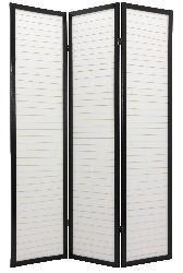 Handmade Wood 6-foot 4-panel Matchstick Room Divider (China) - Thumbnail 1