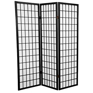 Handmade Wood and Rice Paper 5-foot Windowpane Room Divider (China) (More options available)