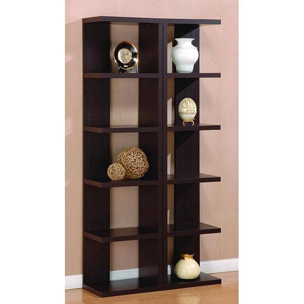 Furniture of america danbury open leveled display cabinet for Furniture of america danbury modern